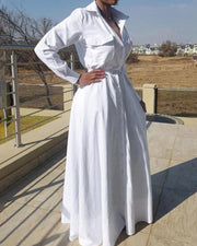 Above And Beyond White Maxi Dress