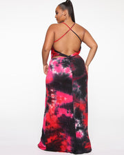 Lady's Holiday Plus Size Maxi Dress
