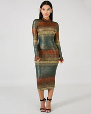 Someplace New Gradient Bodycon Dress