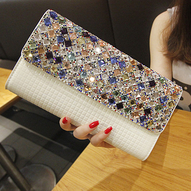 Diamond Plaid Clutch Bag