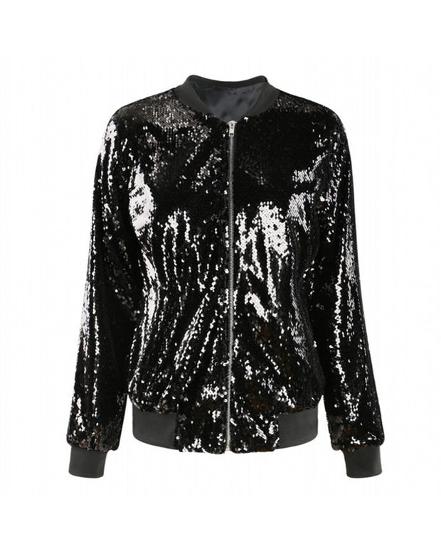 Show Stopper Shiny Sequins Jacket