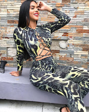 Shine All Night Serpentine Two Piece Suit