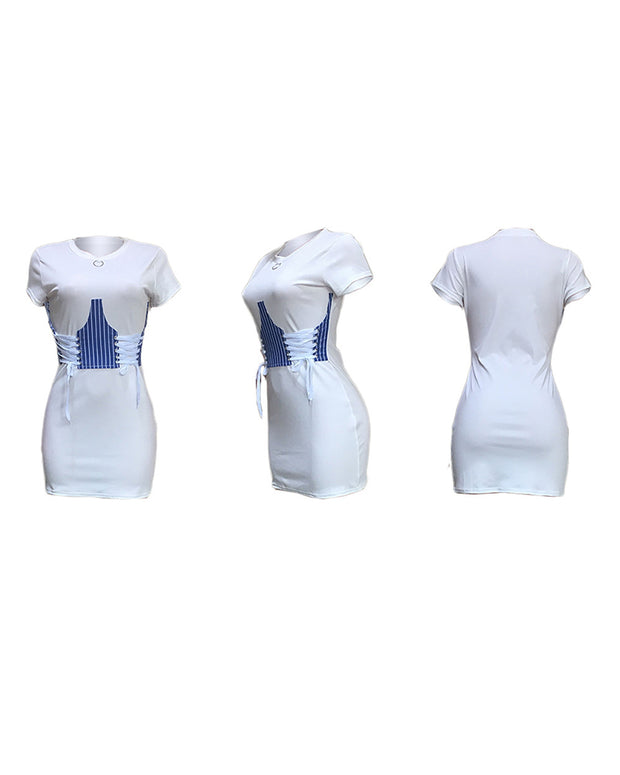 The Oil White Triblend Bodycon Dress