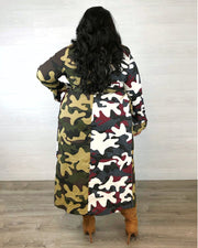 Hot & Cold Camo Trench Coat