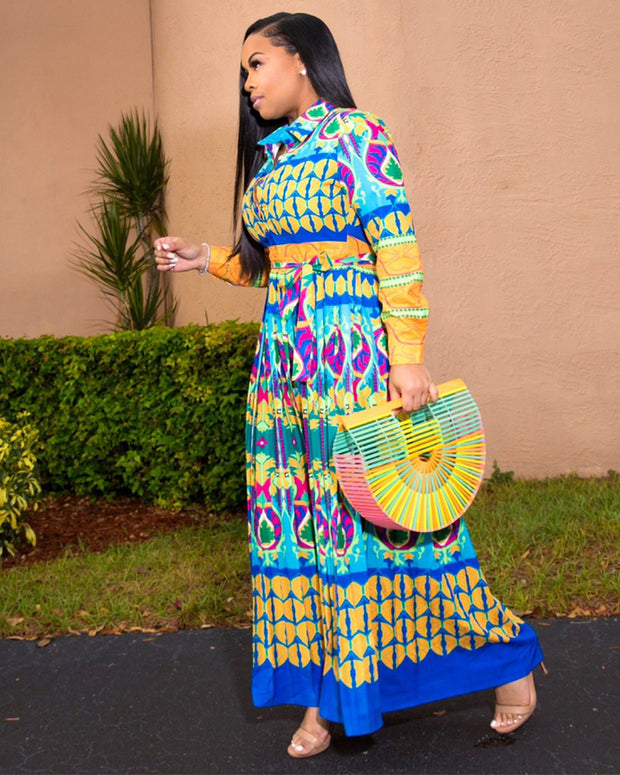 Boho Pattern Plus Size Maxi Dress