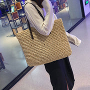 Tassel Decor Woven Tote Bag