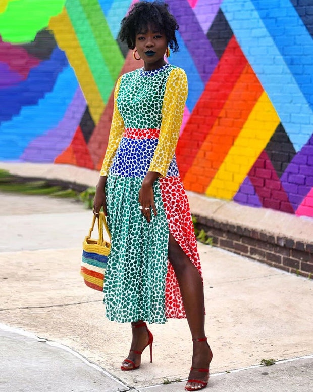 Like A Rainbow Midi Dress