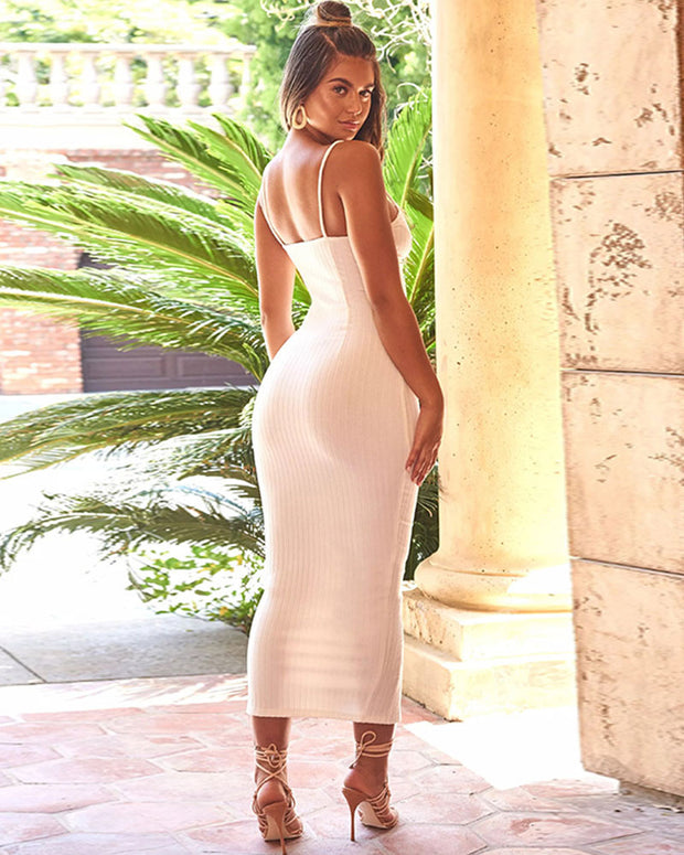 Like A Lady Bodycon Midi Dress