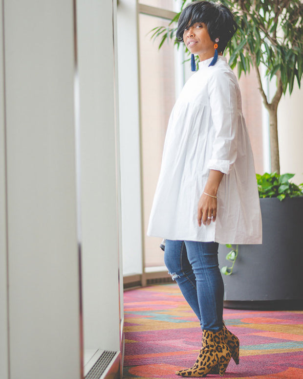 Express Yourself Shirt Dress