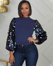 Birthday Bash Sequin Top