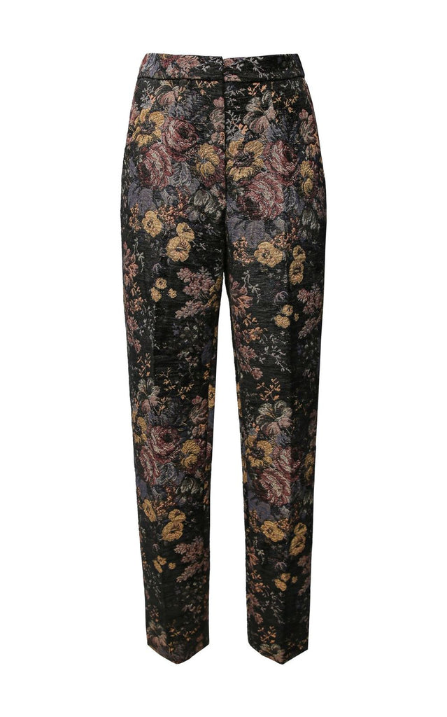 Floral Printed Straight Pants