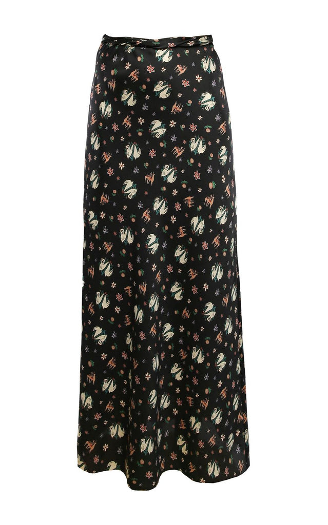 Copy of High-Waisted Print Skirt