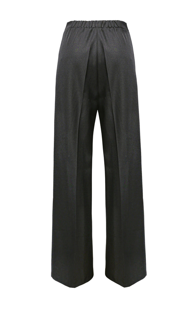 Tailored Wool Wide-Leg Trousers
