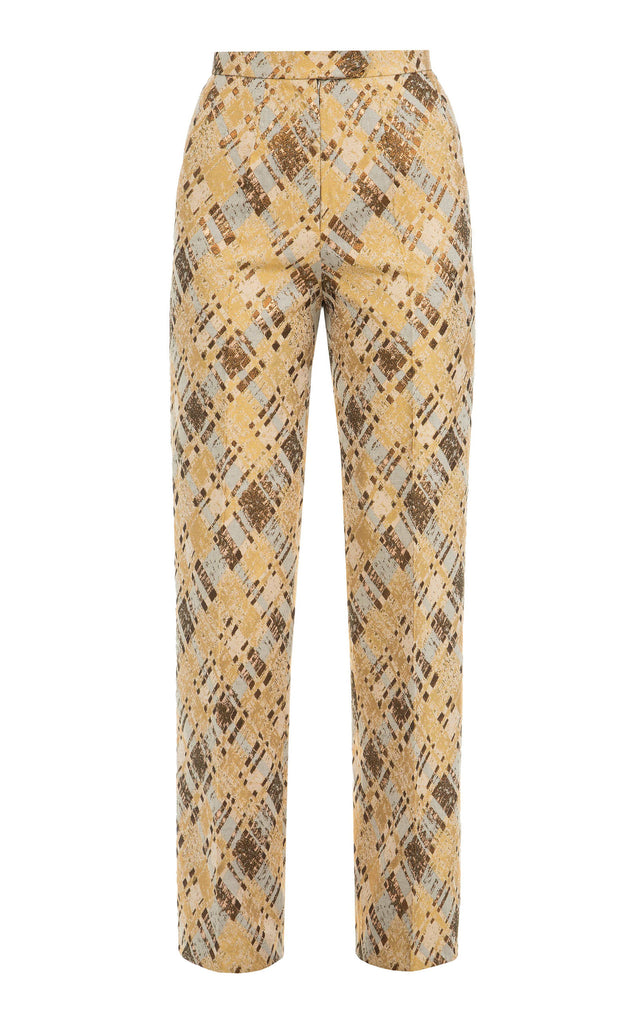 High waisted pattern pants