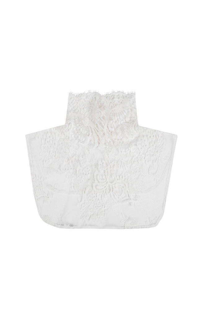 Lace turtle neck collar