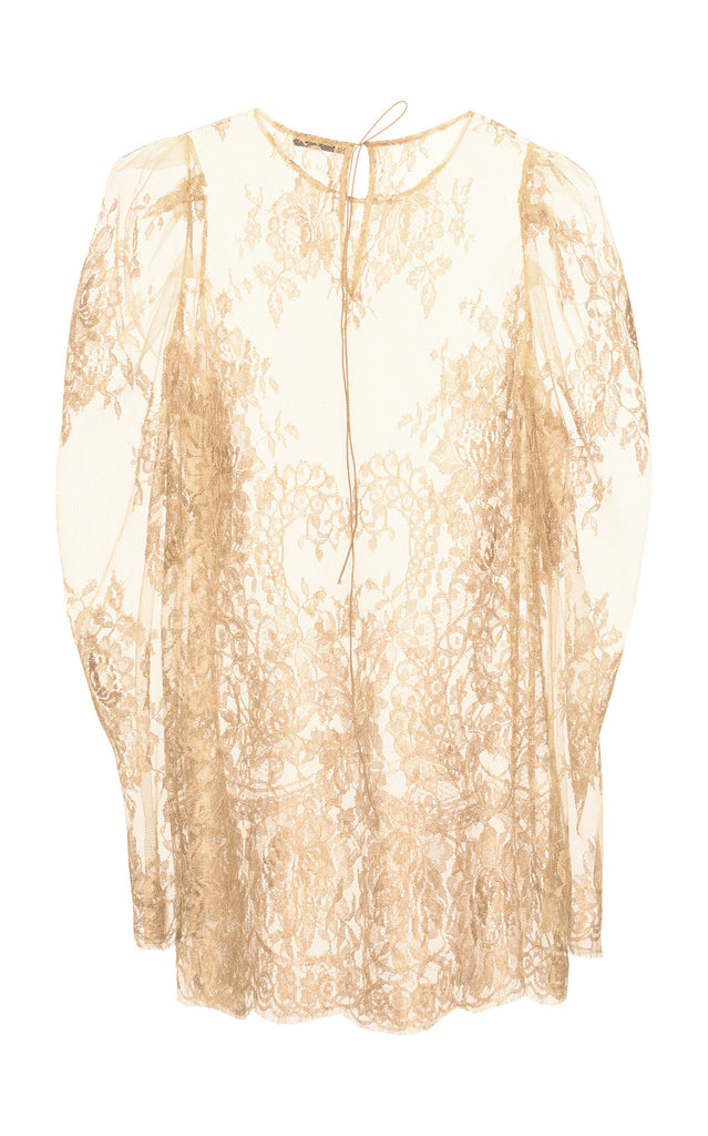 Exclusive sheer floral lace blouse