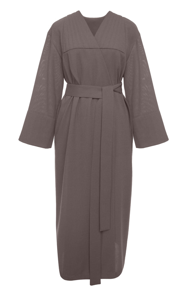 Grey Wool Robe