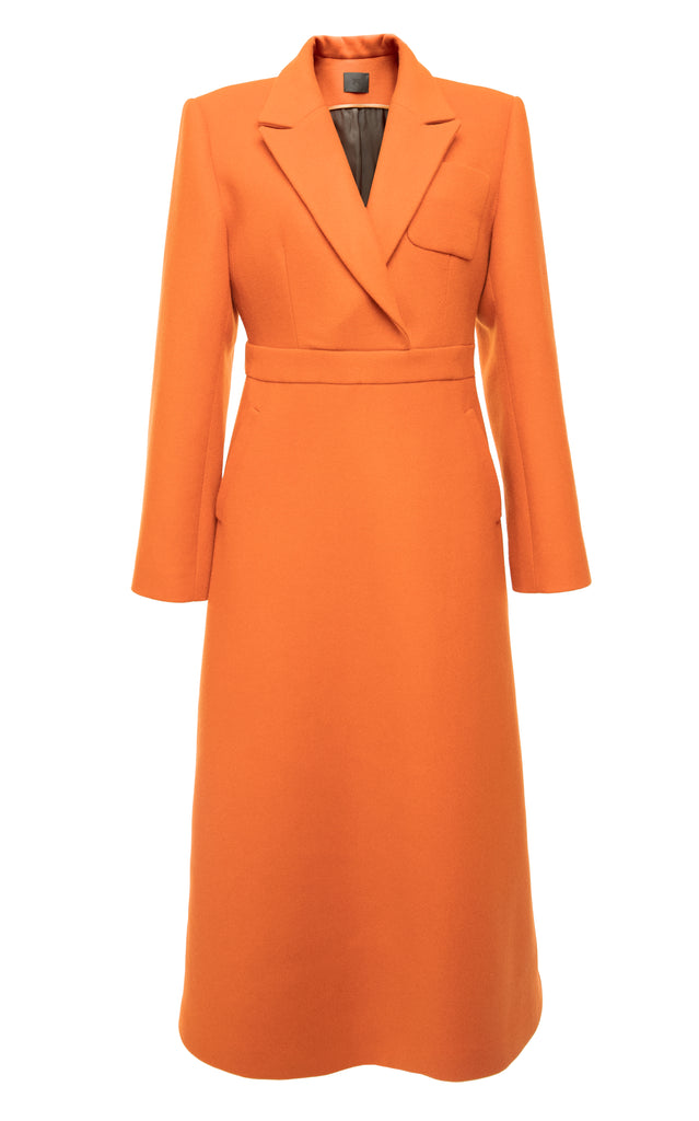 Wrap Belted Wool Dress