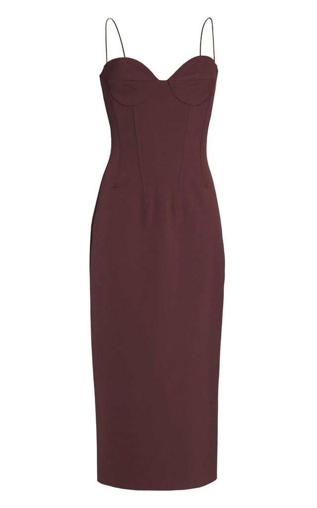 Stretch-Jersey Midi Dress