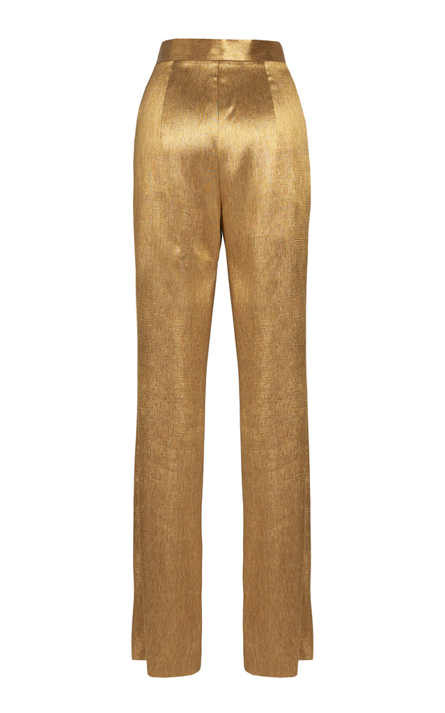 Lamé Slim-Leg Pants