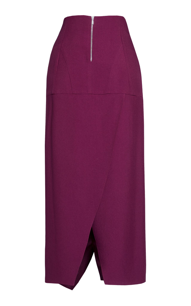High Waist Crepe Tulip Skirt