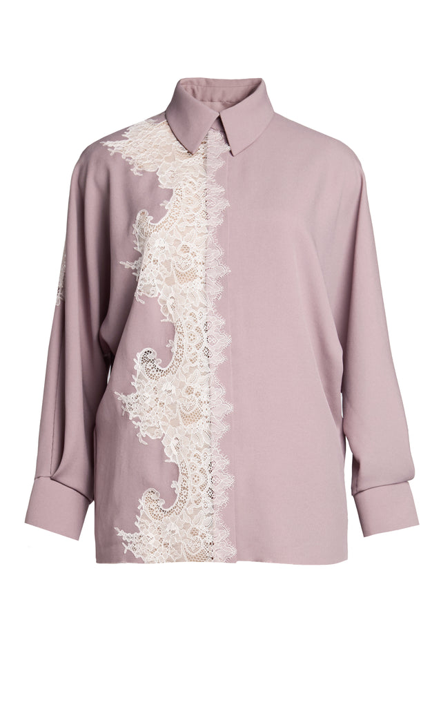 Lace Inset Cady Blouse
