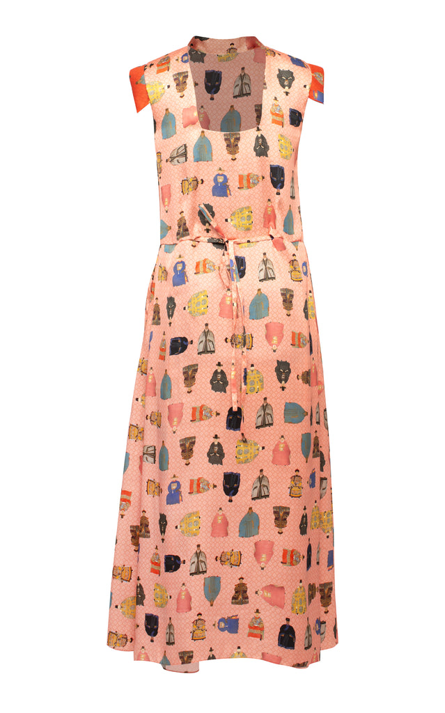 Worrier Printed Midi Dress