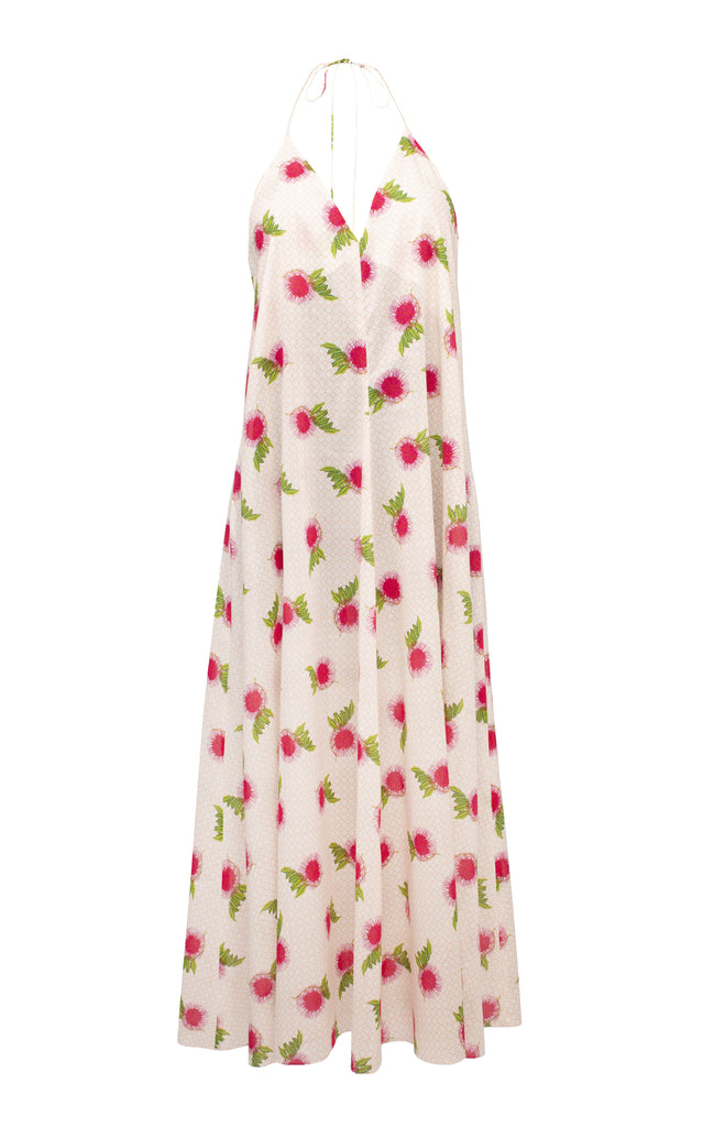 Floral Cotton Midi Dress