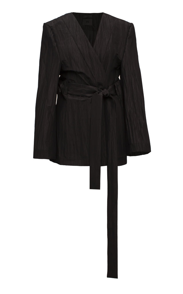 Pleated Belted Jacket