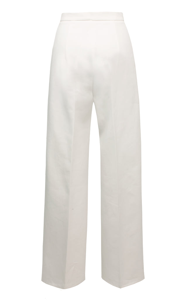 Cotton Straight-Leg Pants