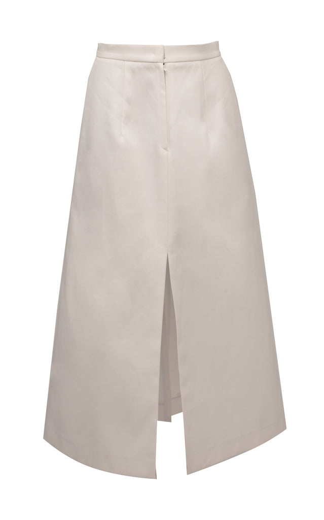 Flared Cotton Midi Skirt