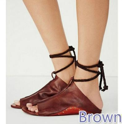 Women Lace Up Flats Shoes - getanne
