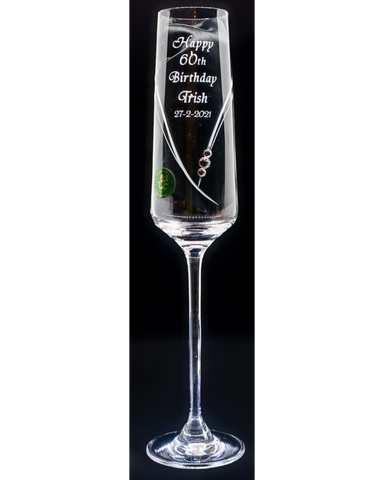 Single Diamanté Champagne/Prosecco Birthdays (PCSL516CH)