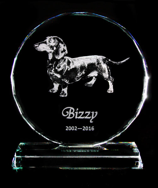 Large Optic Crystal Pet Memorial - Penrose Crystal Waterford