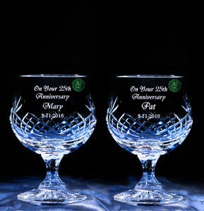 Pair of Brandy Glasses - Penrose Crystal Waterford