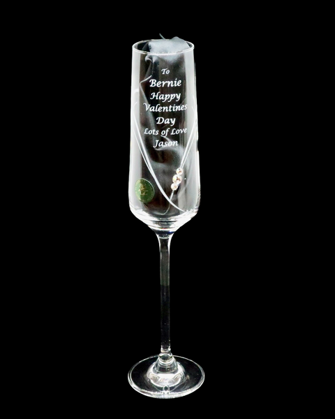 Single Diamanté Champagne/Prosecco Valentine (PCSL516CH)
