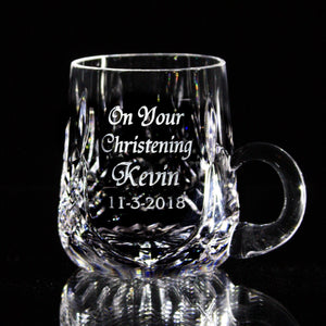 Baby Christening Mug - Penrose Crystal Waterford