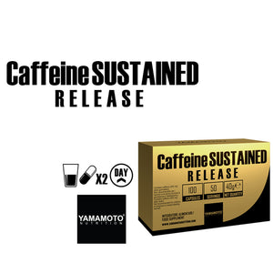 Caffeine SUSTAINED RELEASE 100 capsules Yamamoto Nutrition