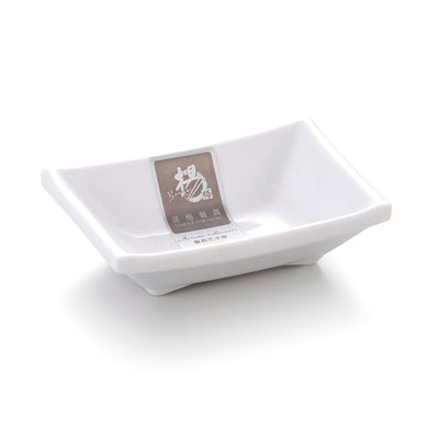 3.4 Inch White Rectangular Melamine Butter Dish 0513GC