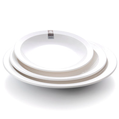 10 Inch Wide Side Melamine Round Restaurant Plates 130101GC