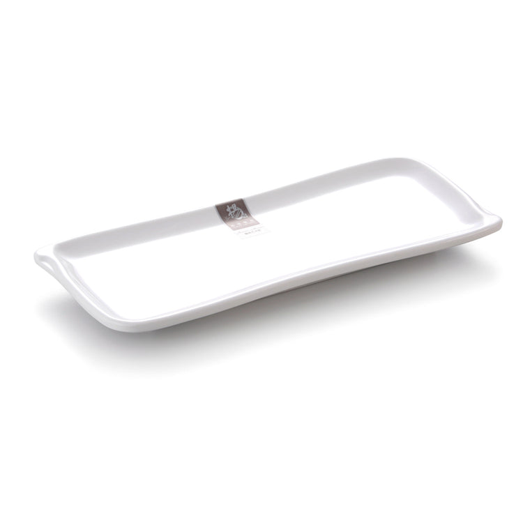 10 Inch White Rectangular Melamine Fish Plate 133GC