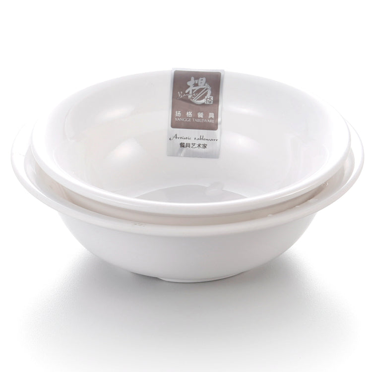 4.5 Inch Chinese White Melamine Dinner Bowls 212241GC