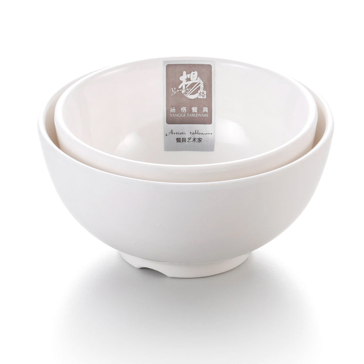 4 Inch White Restaurant Melamine Rice Bowl 400GC