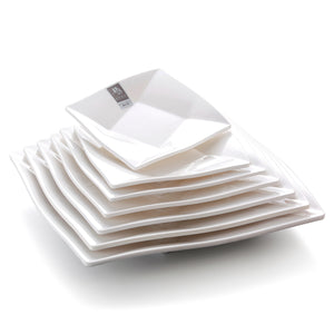 6 Inch White Melamine Square Dinner Plates 4006GC