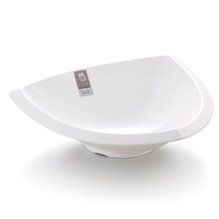 10 Inch White Triangle Melamine Fruit Bowl 52010GC