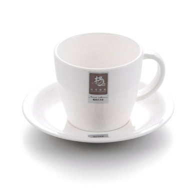 Modern White Melamine Coffee Cup With Plate 564GC
