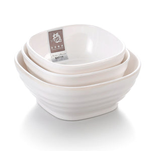 4.25 Inch White Melamine Square Ice Cream Bowl 8003LWWGC