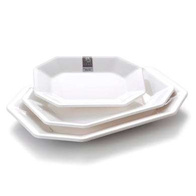 12 Inch White Melamine Octagonal Charger Plates 8312GC