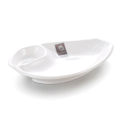 White Melamine Conch Shape Snack Plate A09GC