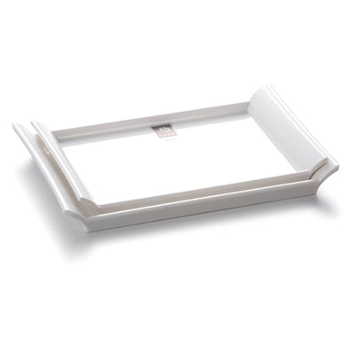 9 Inch White Melamine Rectangular Serving Plates A23GC